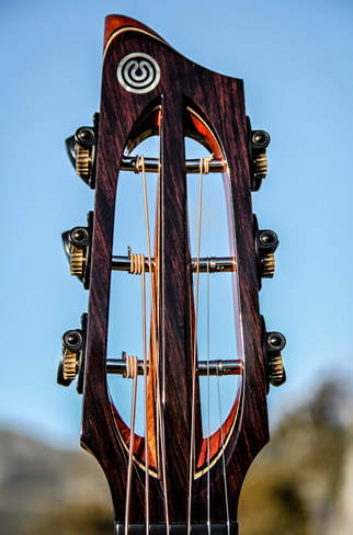 Orchestra Steel string acoustic guitar Headstock